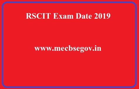 RSCIT Exam Date 2019