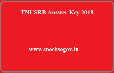 TNUSRB Constable Answer Key