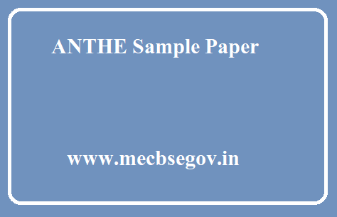 ANTHE Sample Paper