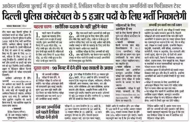 Delhi Police Constable Syllabus 2019