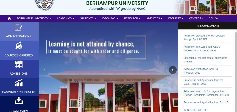 Berhampur University BA 3rd Year Time Table 2021