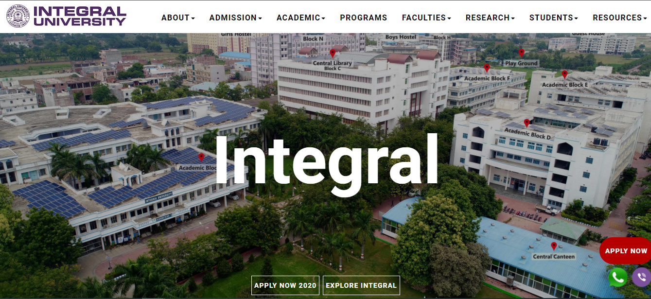 Integral University BA 1st Year Time Table 2021