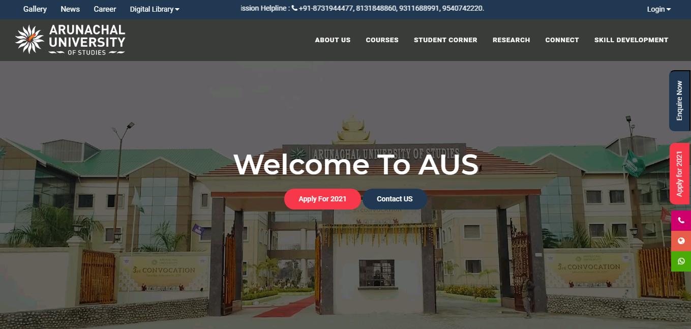 Arunachal University BA 2nd Year Time Table 2021