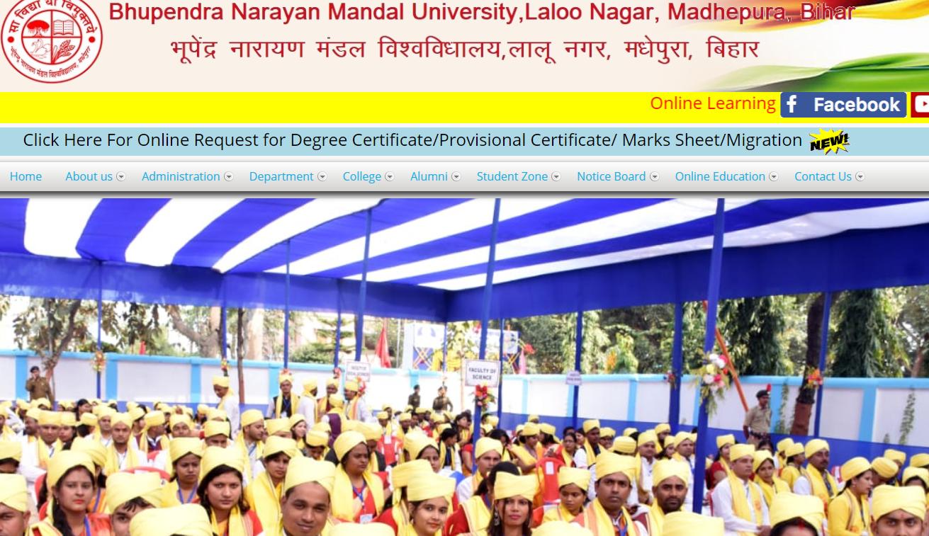 BU Mandal University BA 1st Year Time Table