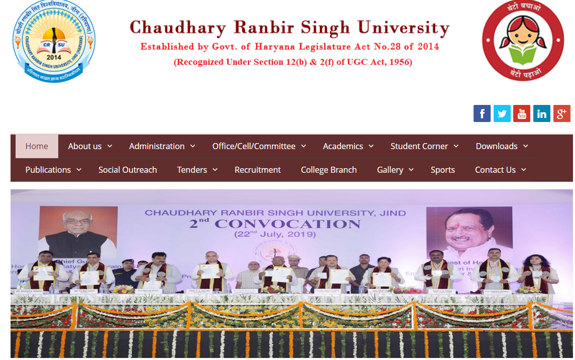 CRSU Jind BA 1st Year Time Table