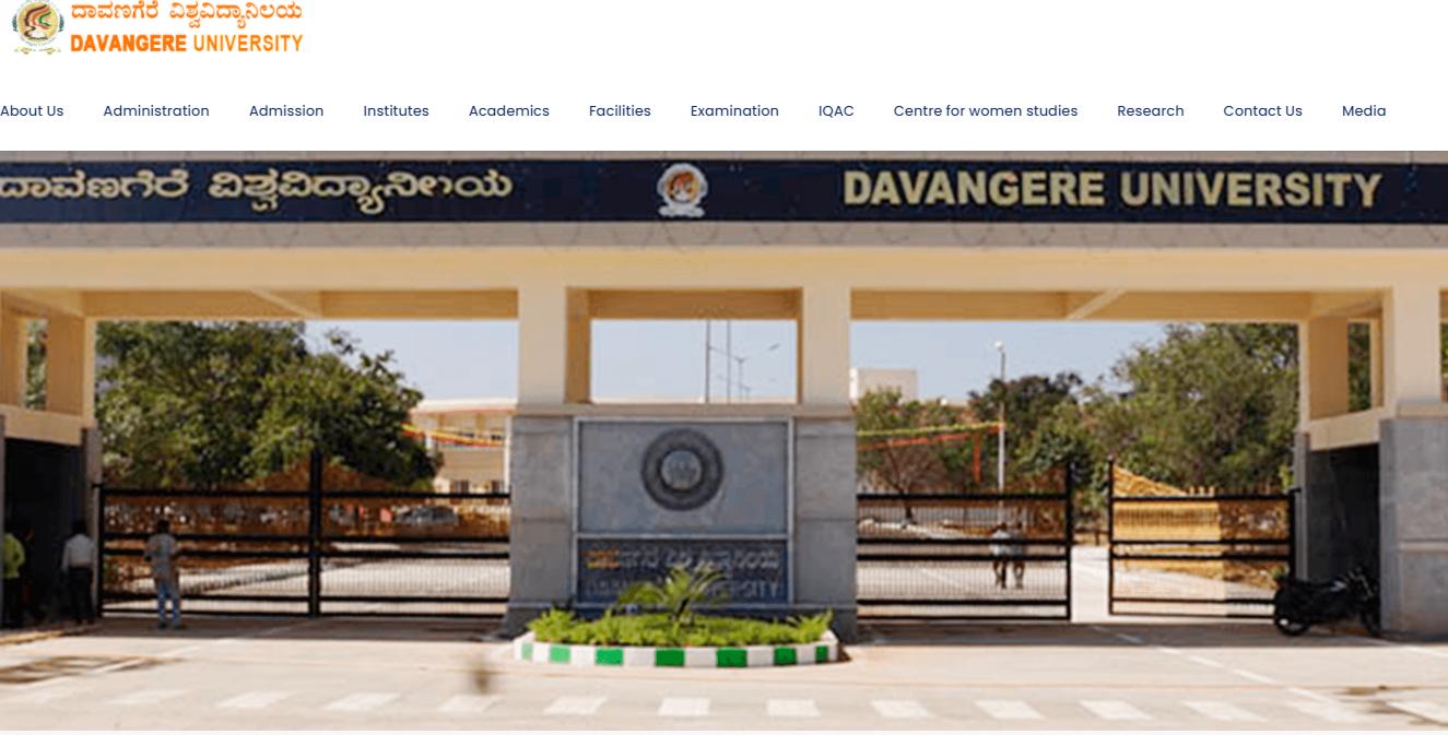 Davangere University Kanpur BA 1st Year Time Table