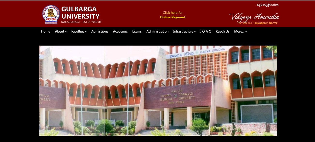 Gulbarga University BA 2nd Year Time Table