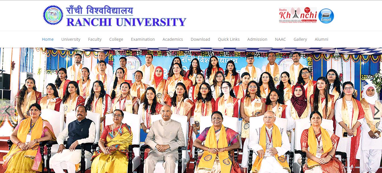 Ranchi University BA 2nd Year Time Table