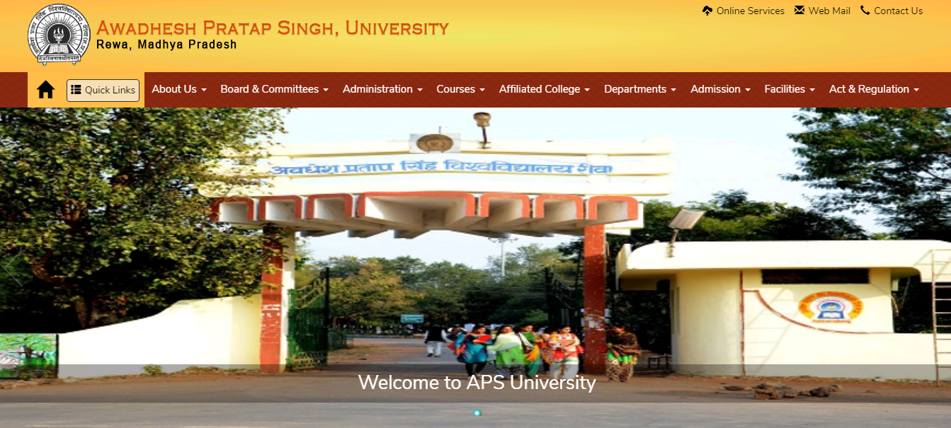 APSU BA 2nd Year Time Table