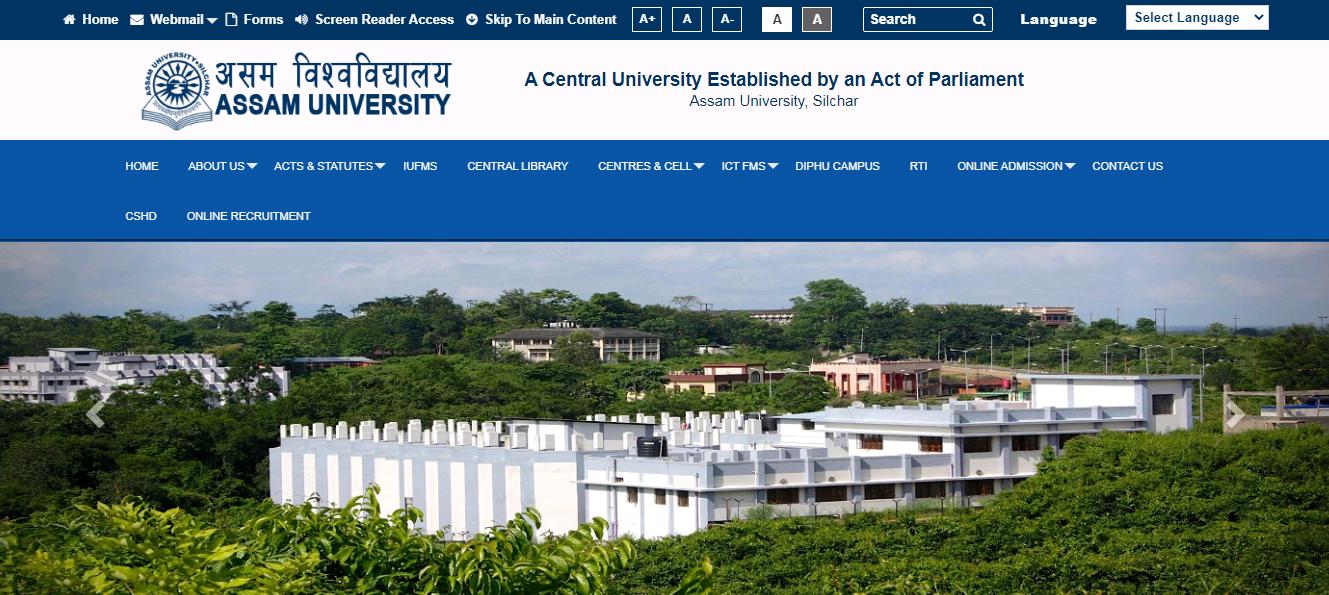 Assam University BA Part 3rd Year Result