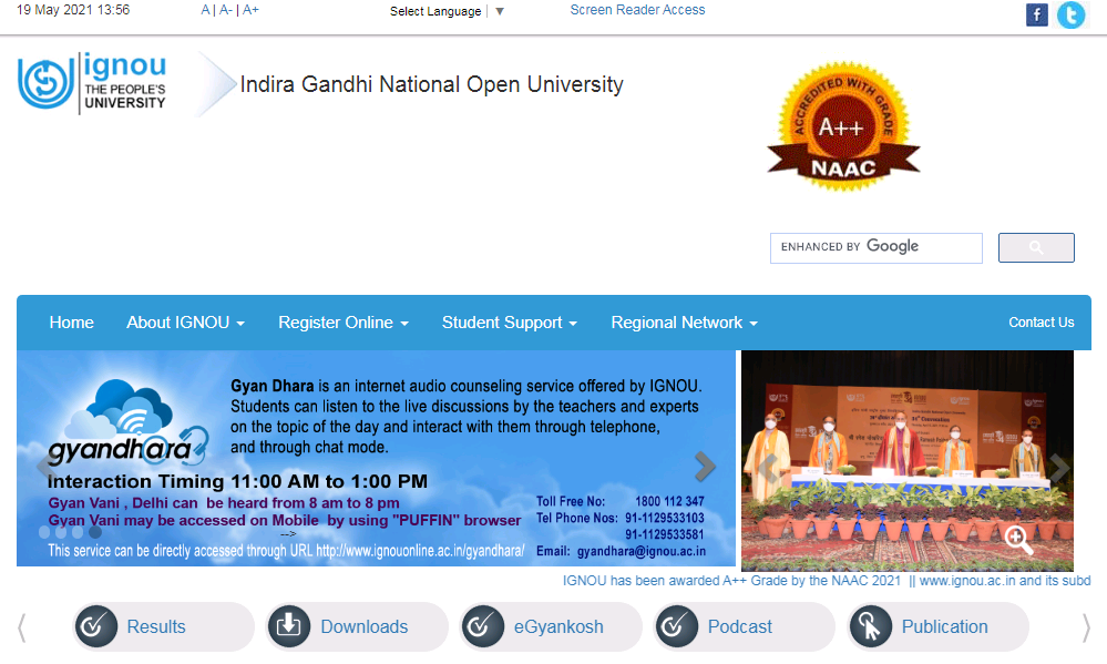IGNOU BA 2nd Year Time Table