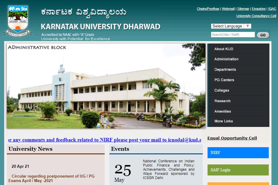 Karnatak University BA 2nd Year Time Table