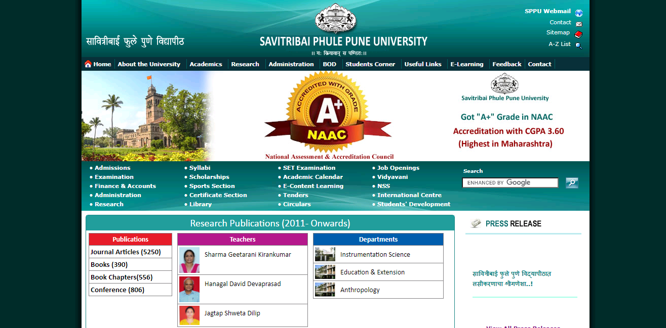 Pune University BA 3rd Year Time Table 2021