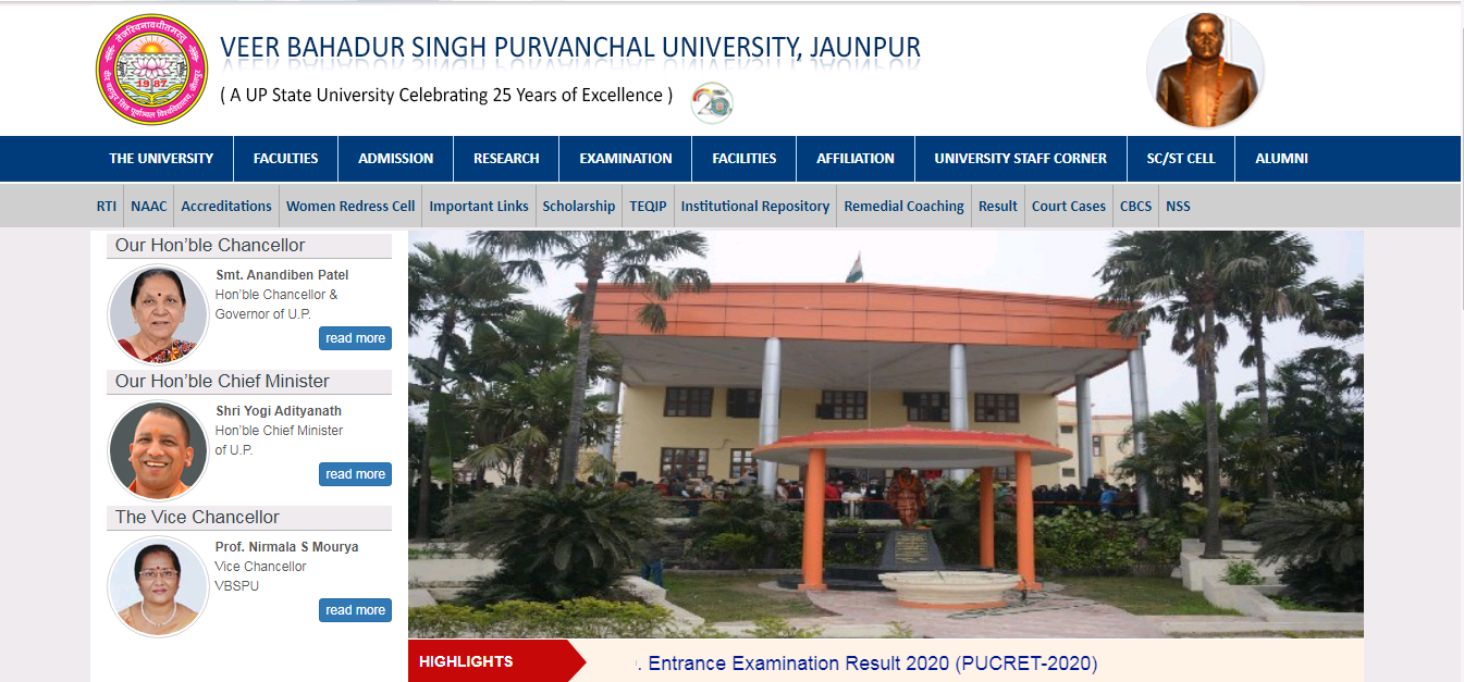 VBSPU BA 2nd Year Time Table