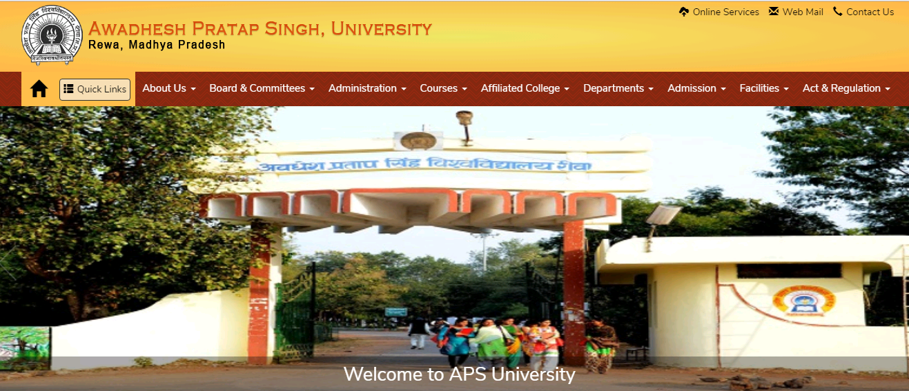 APSU BA 3rd Year Time Table 2021
