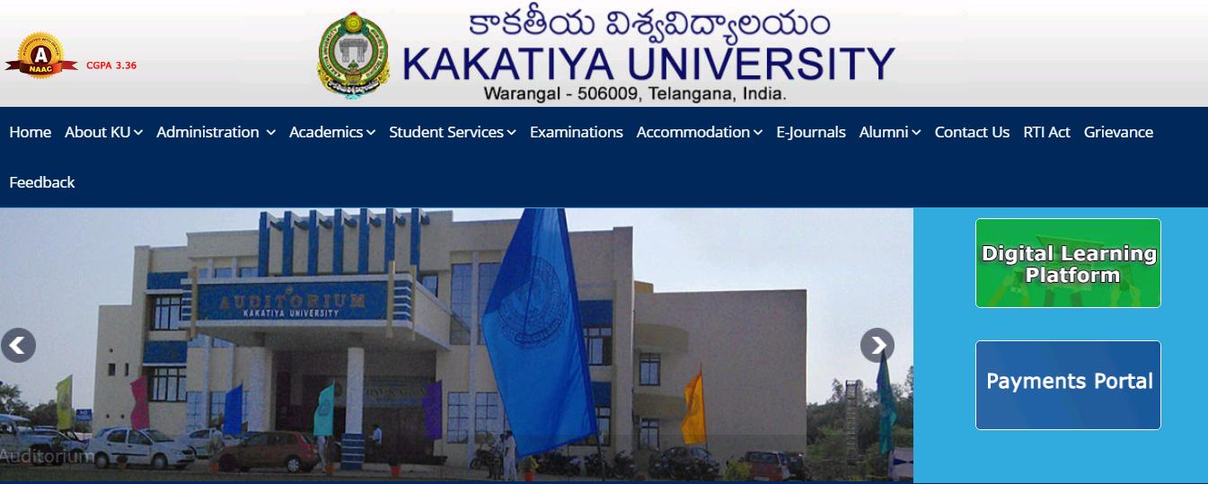 Kakatiya University B.Com 3rd year Time Table