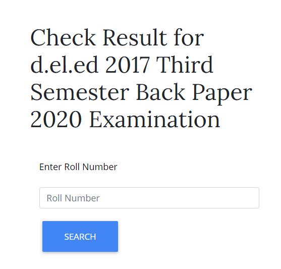 UP D.El.Ed 3rd Sem Result 2021
