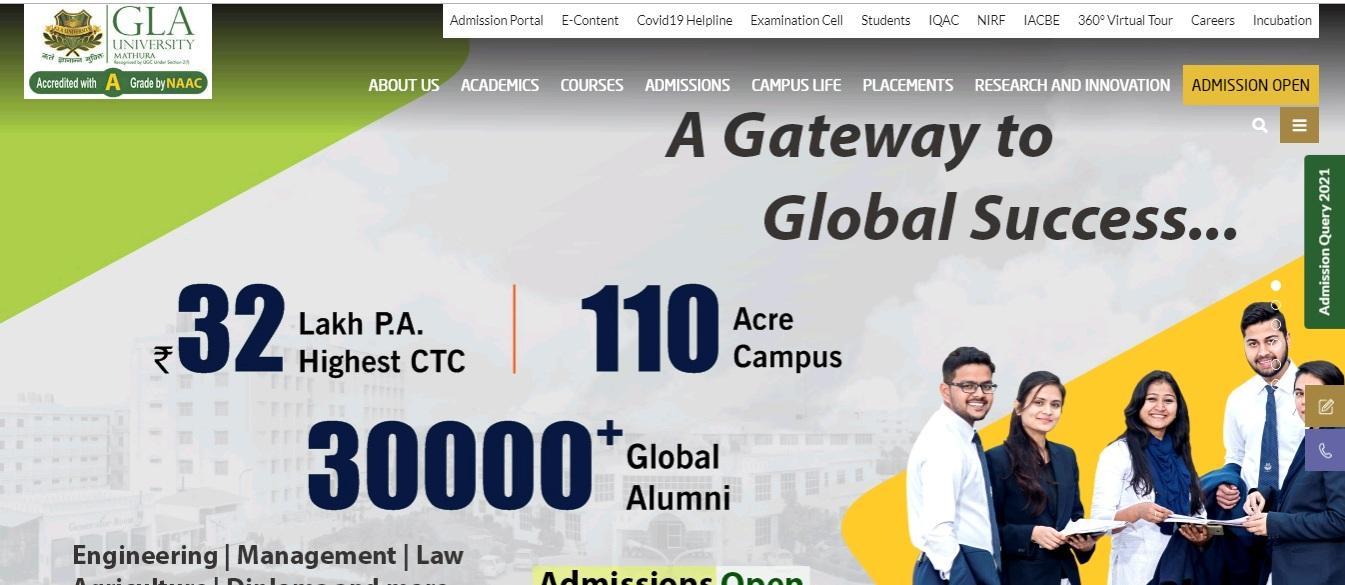 GLA University B.Com 3rd year Time Table 2021
